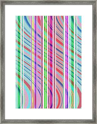 Candy Stripe Framed Print by Louisa Knight
