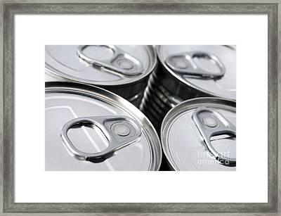 Canned Food Framed Print by Carlos Caetano