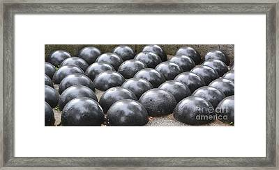 Cannon Balls Framed Print by Artie Wallace