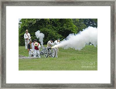 Cannon Fire Framed Print by JT Lewis