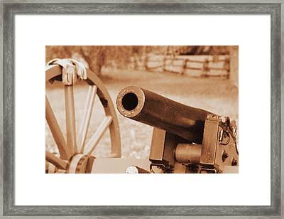 Cannon Ready Framed Print by Jonathan Bateman