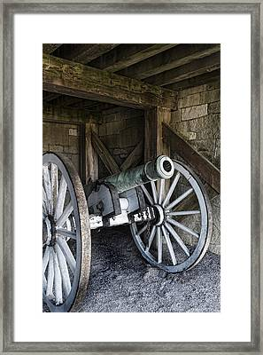 Cannon Storage Framed Print by Peter Chilelli