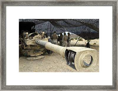 Cannoneers Take Advantage Of Some Framed Print by Stocktrek Images