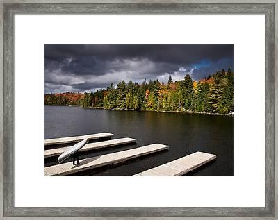 Canoe Lake Framed Print by Cale Best