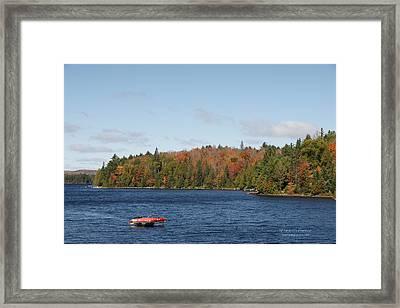 Canoe Ride Framed Print by Peter Clemence