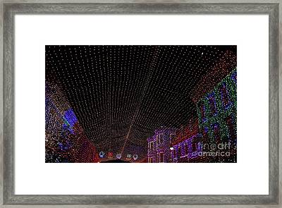 Canopy Of Lights Framed Print by Ronnie Glover