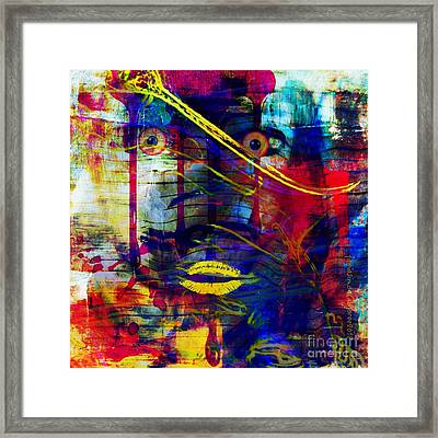 Can't Even Begin To Tell It Framed Print by Fania Simon