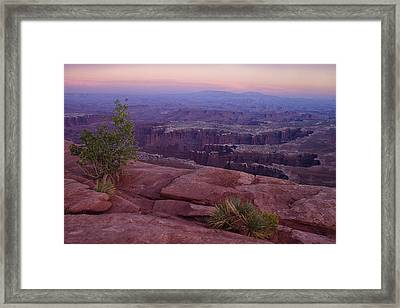 Canyonlands At Dusk Framed Print by Andrew Soundarajan