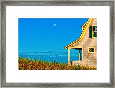 Cape Cod Bay House Framed Print by Linda Pulvermacher