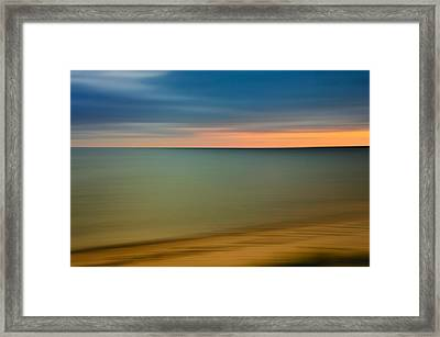 Cape Cod Sunset- Abstract  Framed Print by Thomas Schoeller