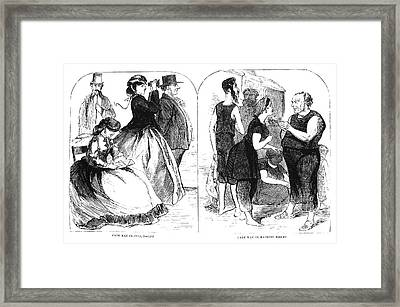 Cape May Fashion, 1866 Framed Print by Granger