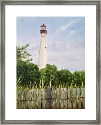 Cape May Lighthouse Framed Print by Margie Perry