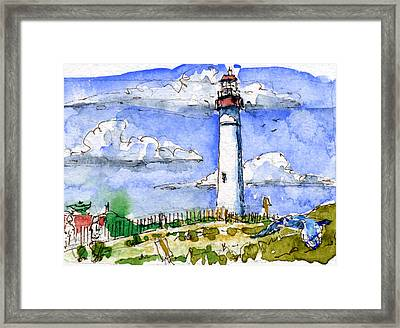 Cape May Lighthouse Study Framed Print by John D Benson