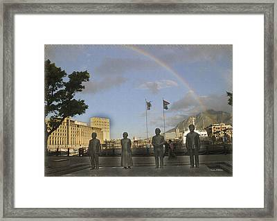 Cape Town Freedom South Africa Framed Print by Jonathan Whichard