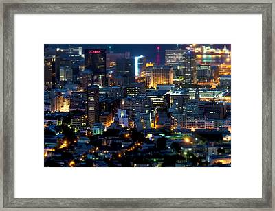 Cape Town's Tilt Shift  Framed Print by Fabrizio Troiani