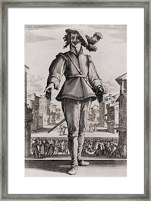 Capitano, A Stock Character Framed Print by Everett
