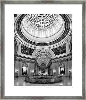 Capitol Interior Framed Print by Ricky Barnard