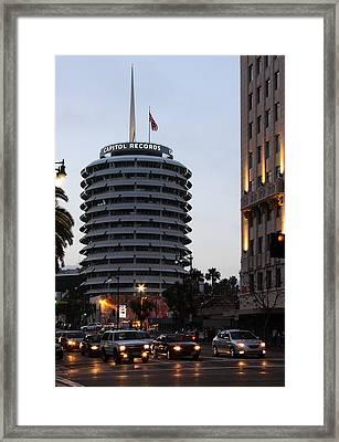 Capitol Records Framed Print by Viktor Savchenko