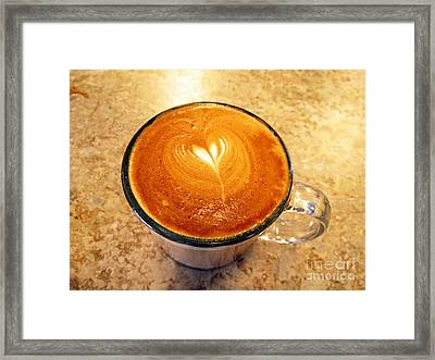 Cappuccino Everyone Wants Framed Print by Ausra Paulauskaite