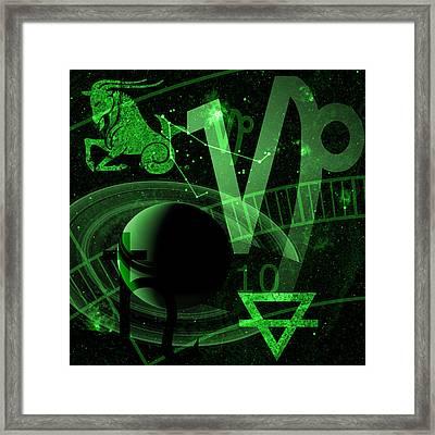 Capricorn Framed Print by JP Rhea