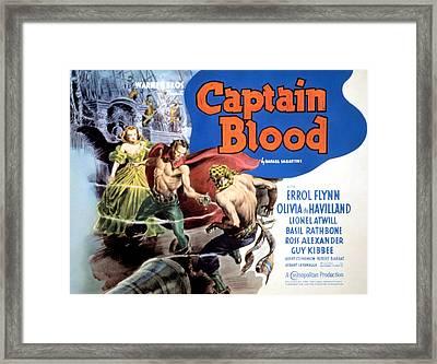 Captain Blood, Olivia De Havilland Framed Print by Everett
