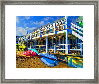 Captain Jack's At Sunrise Framed Print by Tammy Wetzel