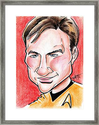 Captain James T. Kirk Framed Print by Big Mike Roate