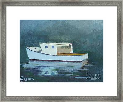 Captain Tom Framed Print by Claire Gagnon