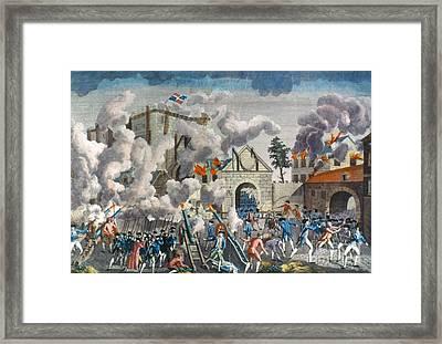 Capture Of Bastille, 1789 Framed Print by Granger