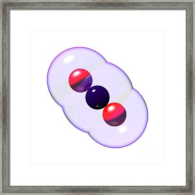 Carbon Dioxide Molecule Co2 9 Framed Print by Russell Kightley