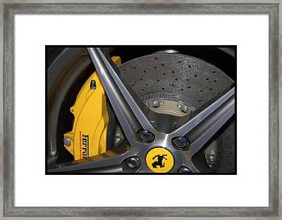 Carbon Disk Framed Print by Bill Dutting