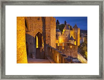Carcassonne Ramparts Framed Print by Brian Jannsen