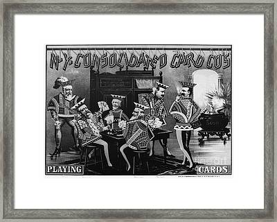 Card Company Trade Card Framed Print by Granger