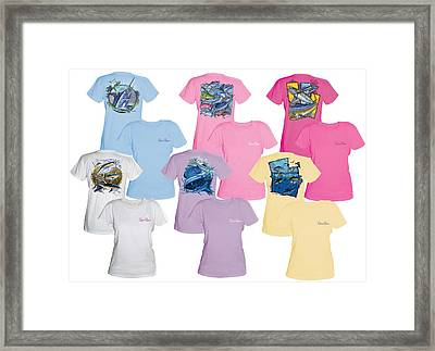 Carey Chen Fine Art Ladies Clothing Framed Print by Carey Chen