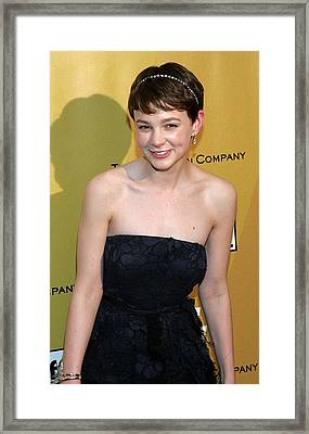 Carey Mulligan Wearing A Nina Ricci Framed Print by Everett