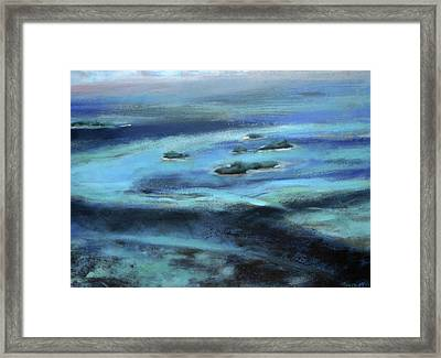 Caribbean Blue Framed Print by Tom Smith