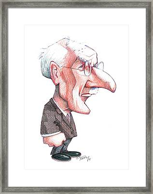 Carl Jung, Caricature Framed Print by Gary Brown