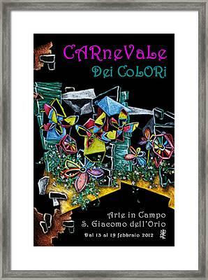 Carnevale Dei Colori - Venezia Framed Print by Arte Venezia