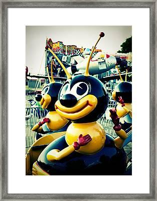 Carnival Bee Framed Print by Sonja Quintero