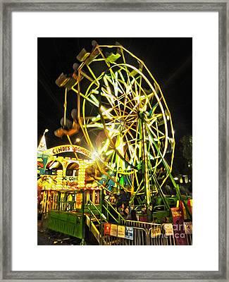 Carnival Ferris Wheel Framed Print by Gregory Dyer