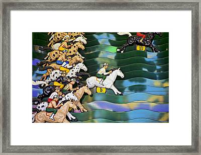 Carnival Horse Race Game Framed Print by Garry Gay