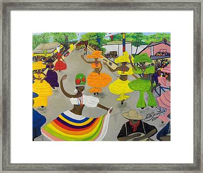 Carnival In Port-au-prince Haiti Framed Print by Nicole Jean-Louis