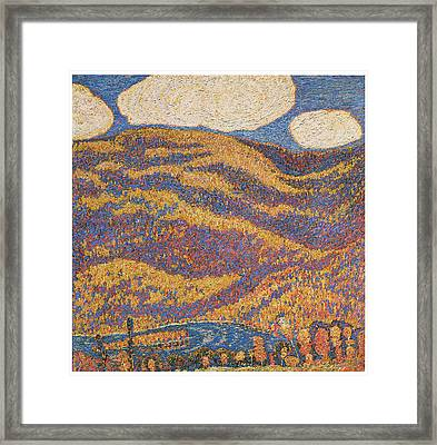 Carnival Of Autumn Framed Print by Marsden Hartley