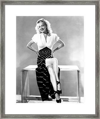 Carole Landis, Mid 1940s Framed Print by Everett