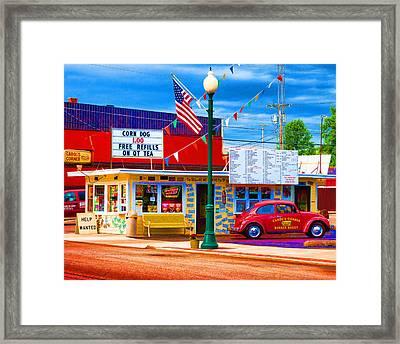 Carol's Corner Framed Print by Mike OBrien