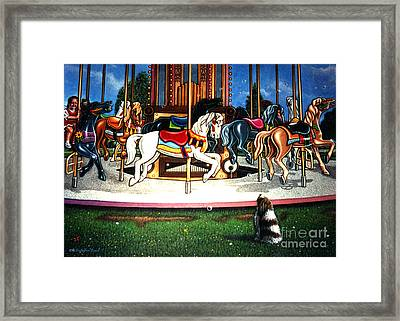 Carousel Center Detail Framed Print by Cristophers Dream Artistry