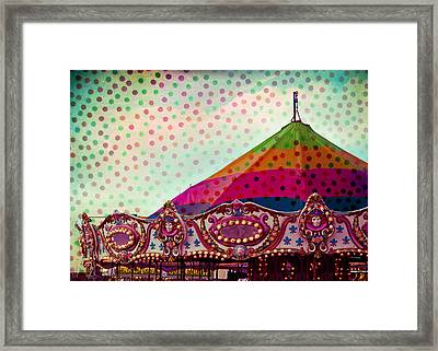 Carousel Dots Framed Print by Sonja Quintero