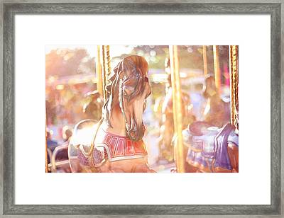 Carousel Dream Framed Print by Amy Tyler