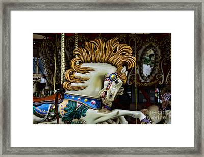 Carousel Horse - 4 Framed Print by Paul Ward