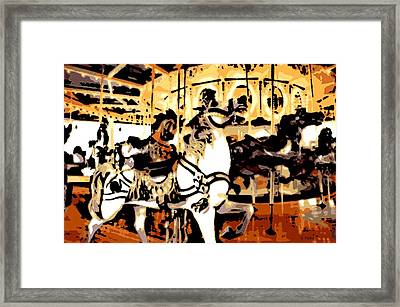 Carousel In The Afternoon Framed Print by George Pedro